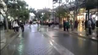 Funny moonwalk at skating