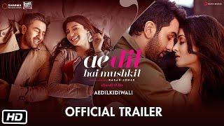 Ae Dil Hai Mushkil Official Trailer Teaser Out | Aishwarya Rai Anushka Sharma Ranbir Kapoor