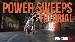 How to Breakdance | Power Sweeps | Beginning Breaking Tutorial