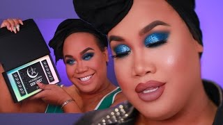 BLUE GLITTER SMOKEY EYE | PatrickStarrr