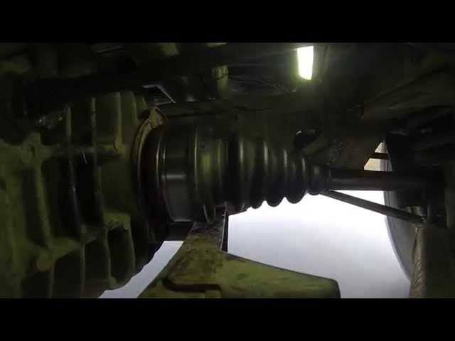 Vw T3 Syncro driveshaft closeup