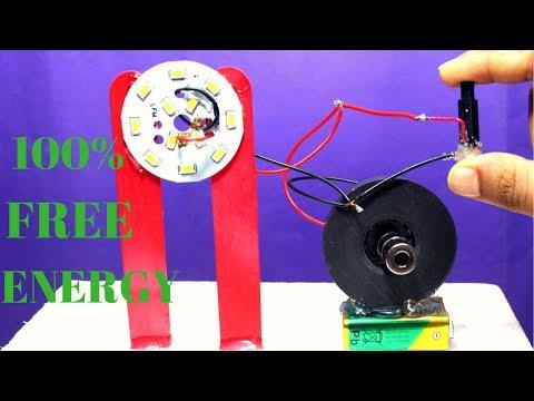 Free Energy Led Light Bulbs For Lifetime Using Magnet - Free Energy Light Bulbs thumbnail