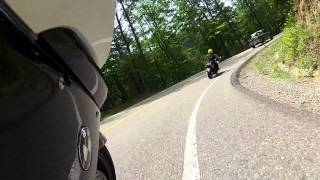 Tail of the Dragon GoPro Hero 2HD on a BMW K1300S after the rain with a couple accidents...