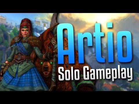 Smite: UNLEASH THE BEAST!- Artio Solo Gameplay