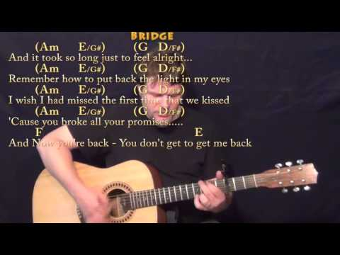 Jar of Hearts (Christina Perri) Strum Guitar Cover Lesson with Chords/Lyrics - Capo 3rd