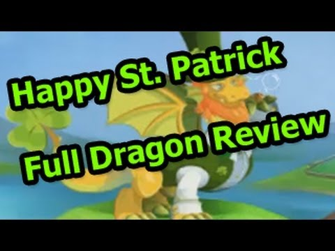 Dragon City ST PATRICK Dragon Full Review - Level Up & Attacks in Combat