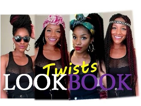 HAVANA TWISTS HAIR LOOKBOOK ♦ 8 STYLES