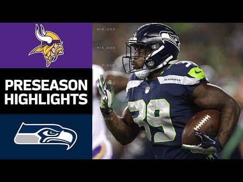 Vikings Vs Seahawks Nfl Preseason Week 2 Game Highlights