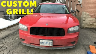 Dodge Charger Custom Grill! 2006-10 Charger Grill Removal & Installation! GREAT CHEAP MOD