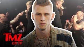 Machine Gun Kelly Fights Another Fan, Staged?!   TMZ TV