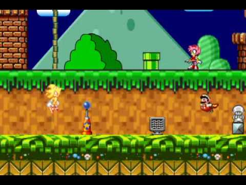 Ultimate Mario vs Sonic (animated sprite fight)