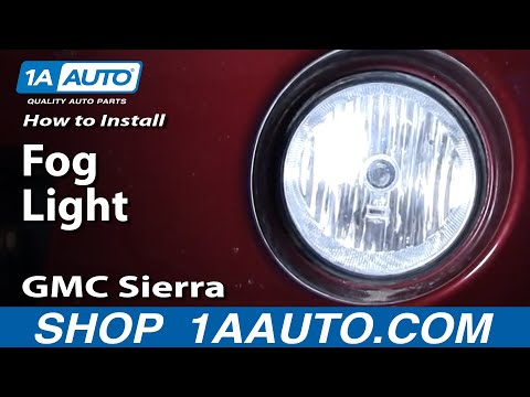 How To Install Replace Fog Light 03-06 GMC Sierra 1AAuto.com