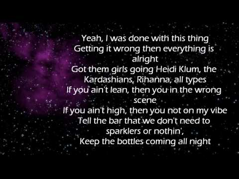 Calvin Harris (Feat. Tinie Tempah) - Drinking From the Bottle (Lyrics On Screen)