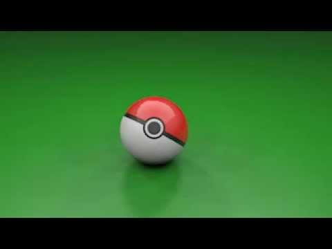 Pokeball in cinema 4D