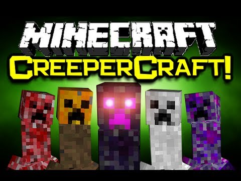 Minecraft CREEPERCRAFT MOD Spotlight! 14 NEW Creepers! (Minecraft Mod Showcase)