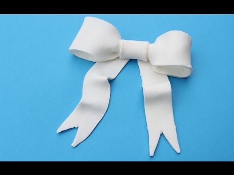Gumpaste Bow - How to Make a Gum Paste Bow for Cake Decorating