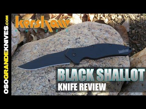 Kershaw Shallot Black 1840CKT Spring Assisted Knife Review   OsoGrandeKnives