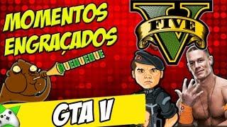 MOMENTOS ENGRAÇADOS DO GTA V - AND HIS NAME IS JOHN CENA!