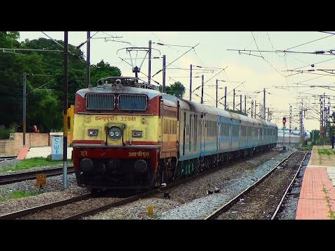 High Speed Wap-1 Action With Mys- Mas Shatabdi Express video