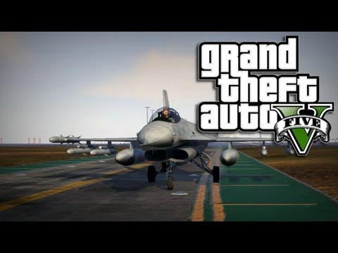 GTA 5 Online Multiplayer – How to Get a Jet or Helicopter in GTA 5 Online (GTA 5 Jet Location)