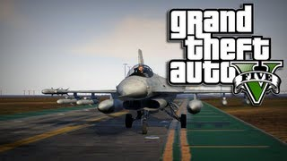 GTA 5 Online Multiplayer - How to Get a Jet or Helicopter in GTA 5 Online (GTA 5 Jet Location)