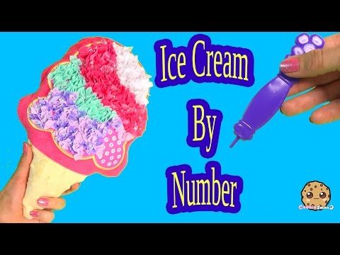 Ice Cream Plush Craft Fabric by Number Do It Yourself DIY No Sew Project  - Cookieswirlc Toy Video