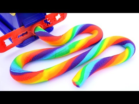 DIY Play Doh Super Rainbow Compilation Frozen Elsa Sparkle Play Doh Modelling Clay Mighty Toys