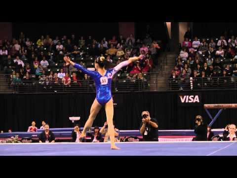Sixin Tan - Floor Exercise Finals - 2012 Kellogg&#039;s Pacific Rim Championships
