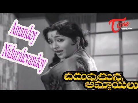 Chaduvukunna Ammayilu Songs - Amandoy Niduralevandoy - ANR - Savitri - Krishna Kumari