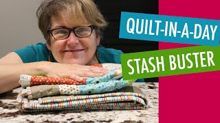 Fast and Easy Beginner Quilt - Quilt-in-a-day Stash Buster - Free Pattern