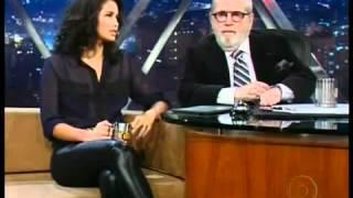 Nanda Costa in leather pants/ calça de couro