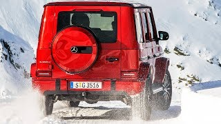 MERCEDES G-CLASS DIESEL (2019) Test on Snow