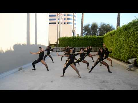 ASU Stingettes Practicing Stand Routines for the Robin Thicke Video Shoot