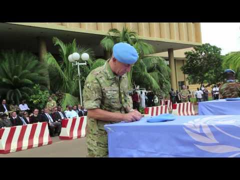 UNIFEED: MALI / PEACEKEEPERS MEMORIAL- 9 July 2013