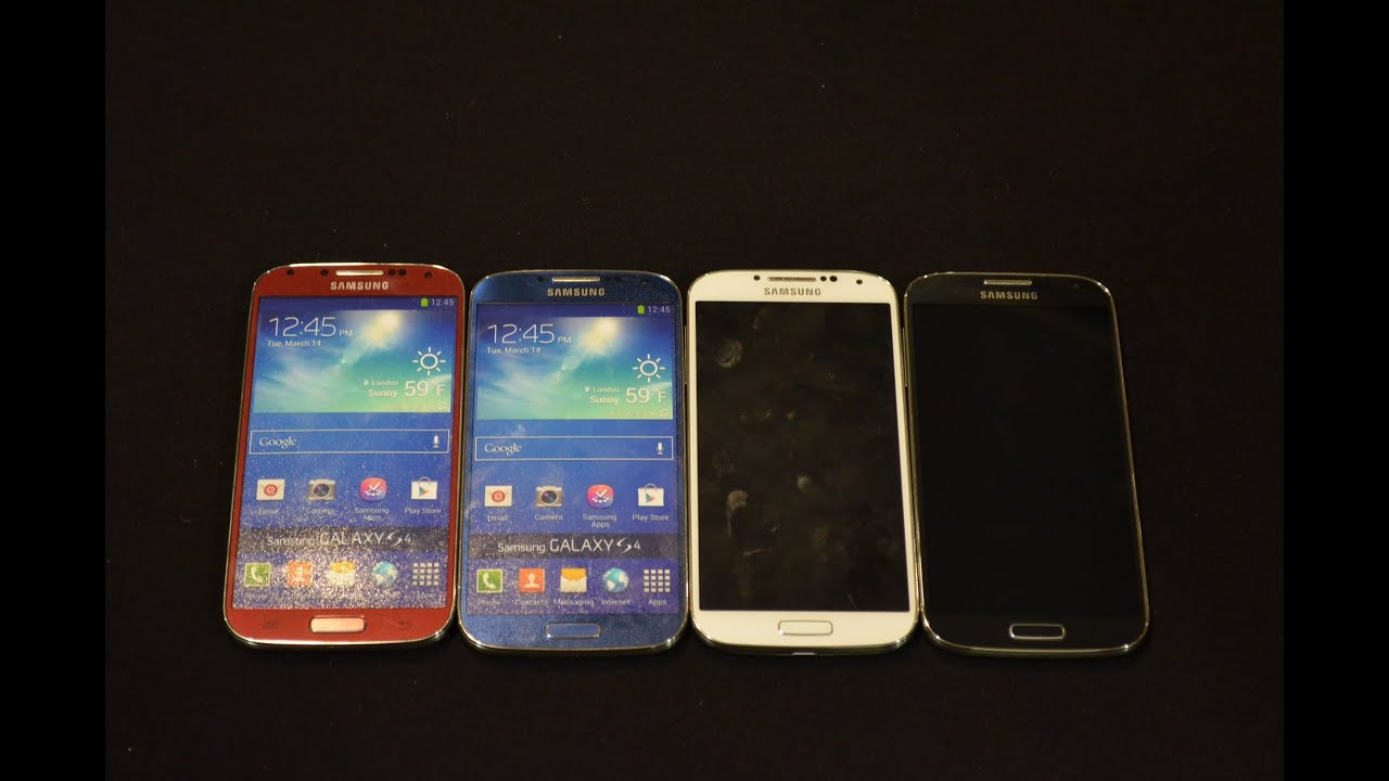 samsung galaxy s4 new colors red and blue youtube