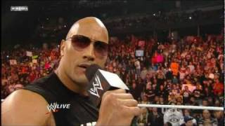 The Rock Returns to Monday Night Raw HD 2/14/11 - Part 1