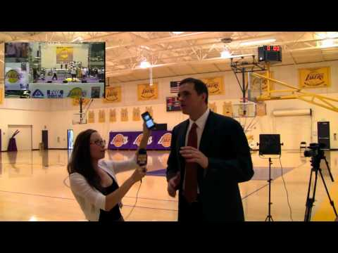 Lakers Nation White Girl Dances With Mark Madsen