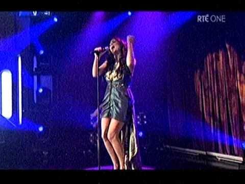 "Nikki Kavanagh sings ""Falling"" Ireland Finals Eurovision 2011.....RTE1 11/02/2011."