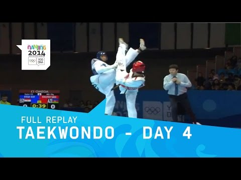 Taekwondo - Semi Finals - Men -73 kg/Women -63 kg | Full Replay | Nanjing 2014 Youth Olympic Games