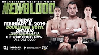"New Blood Feb 8, 2019 Fight Night: ""New Blood"" Main Event showcases an intriguing matchup between..."