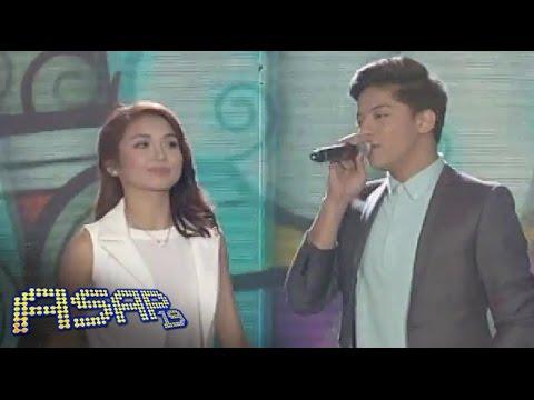Kathryn, Daniel sing