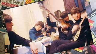 ♫ The Beatles in dressroom before the show at Gaumont Cinema, Bradford 1963