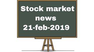 Stock market news #21feb2019 - zydus cadila, tech mahindra, bhel, dynamatic tech 🔥🔥🔥