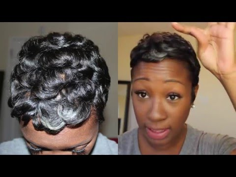 Curly/Wavy Pixie   Short Hair Tutorial (Start to Finish)