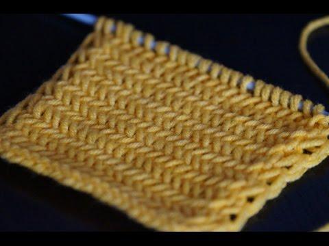 Вязание спицами узора Елочка