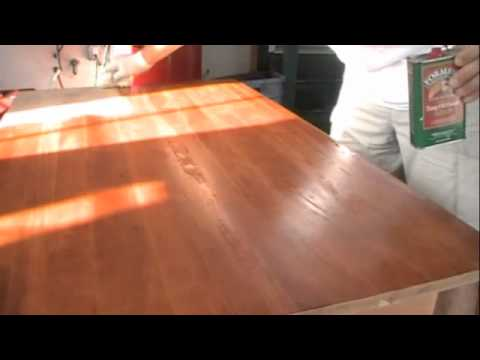 how to make awood finish