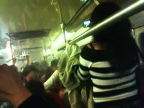 Metro quemandose 27-12-13 línea 7