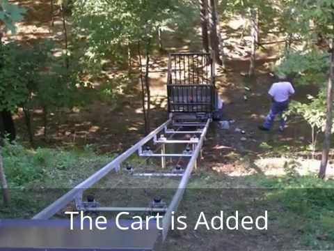 Residential outdoor hillside elevator project from start for Hillside elevator kit