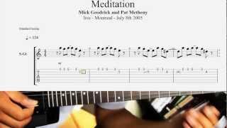 Meditação Jobim Mendonça 1958 Guitar Solo Transcription