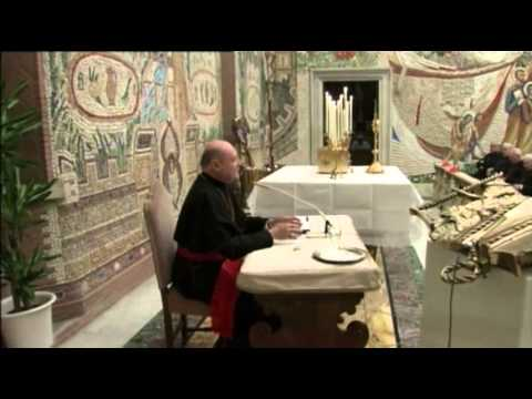 Raw: Pope Bendict Prays With Cardinals